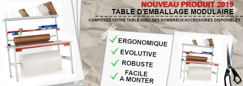 Visuel Table d'emballage