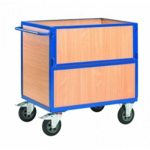 Chariots containers bois sans couvercle for Container bois
